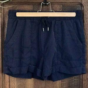 Navy Blue Soft Shorts